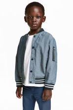 Chambray baseball jacket - Blue/Chambray -  | H&M 1