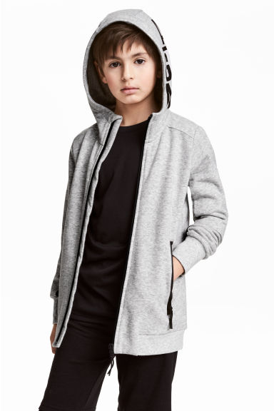 Sweat à capuche zippé - Gris chiné - ENFANT | H&M FR 1