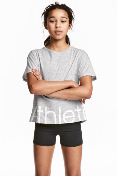 Sports top - Grey marl - Kids | H&M CN