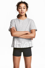 Sports top - Grey marl -  | H&M CA 1