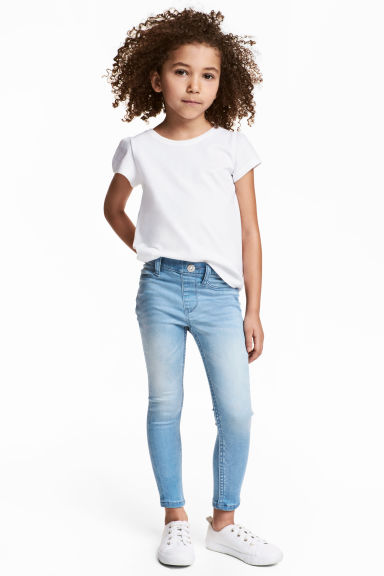 Superstretch Satin Leggings - Light denim blue - Kids | H&M 1
