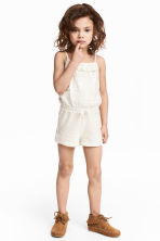 Lace playsuit - Natural white - Kids | H&M CN 1