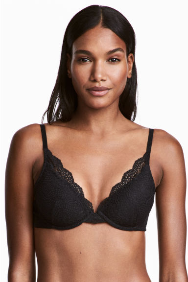 Lace push-up bra - Black - Ladies | H&M CN 1
