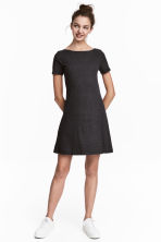 Ribbed jersey dress - Dark grey - Ladies | H&M CN 2
