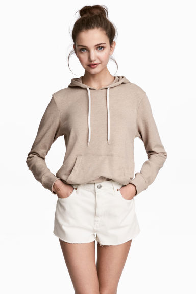 Hooded top - Beige - Ladies | H&M CN 1