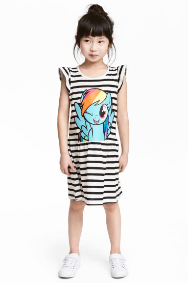 Robe en jersey avec impression - Blanc/My Little Pony - ENFANT | H&M CH 1