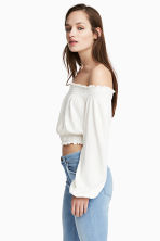 Off-the-shouldertop - Wit - DAMES | H&M BE 2