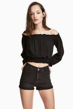 Off-the-shoulder top - Black - Ladies | H&M CN 1