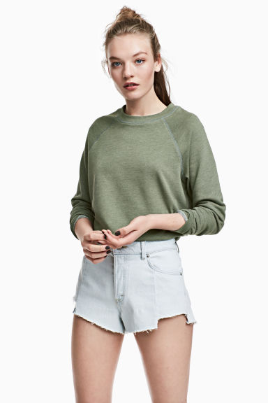 Sweatshirt - Khakigrön - Ladies | H&M FI 1