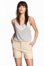 Cotton shorts - Light beige - Ladies | H&M 1