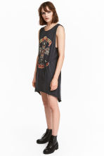Sleeveless jersey dress - Black/Guns N' Roses - Ladies | H&M 1