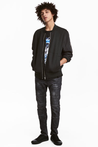 Skinny Tapered Jeans - Mörkgrå washed out - HERR | H&M FI 1