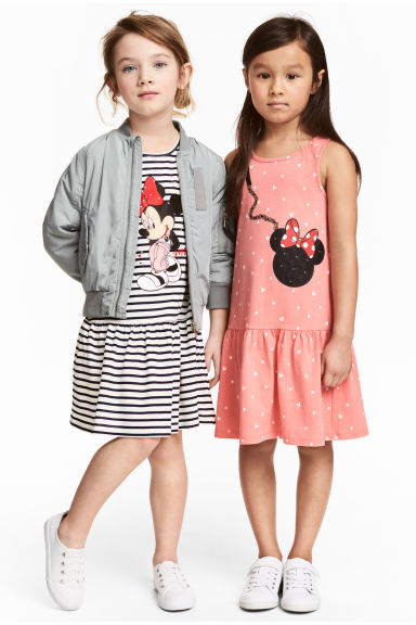 2-pack jersey dresses - White/Minnie Mouse - Kids | H&M CN 1