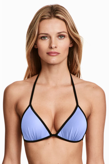Push-up triangle bikini top - Lavender blue - Ladies | H&M CN 1