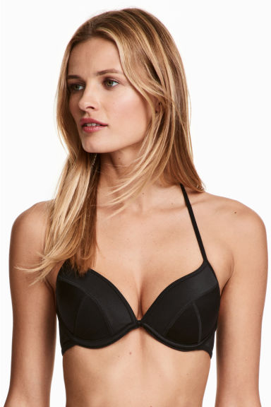 Push-up bikini top - Black - Ladies | H&M CN 1