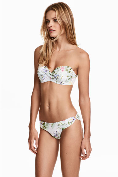 Bikini bottoms - White/Floral - Ladies | H&M 1