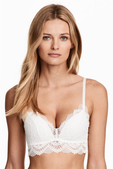 Non-wired push-up bralette - White - Ladies | H&M CN 1