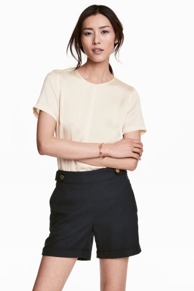 Tailored shorts - Dark blue -  | H&M