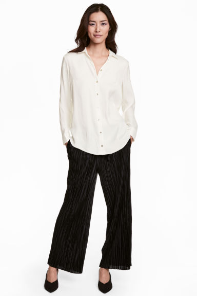 Pleated trousers - Black - Ladies | H&M CN