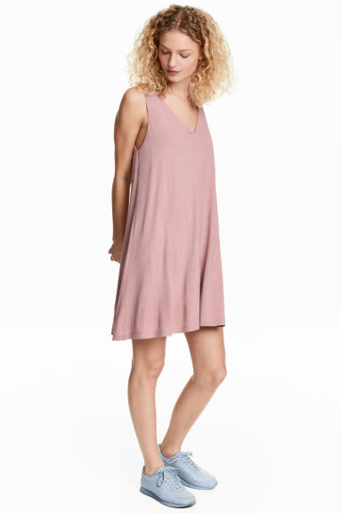 V-neck jersey dress - Vintage pink -  | H&M