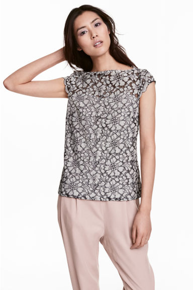 Lace top - Natural white - Ladies | H&M 1