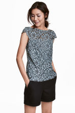 Lace top - Blue-grey - Ladies | H&M CN 1