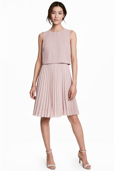 Pleated dress - Light heather -  | H&M CN