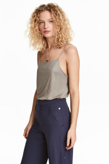 Jersey strappy top - Mole - Ladies | H&M 1