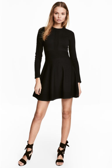 Knitted dress - Black -  | H&M CN