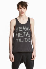 Printed vest top - Dark grey - Men | H&M CN 1