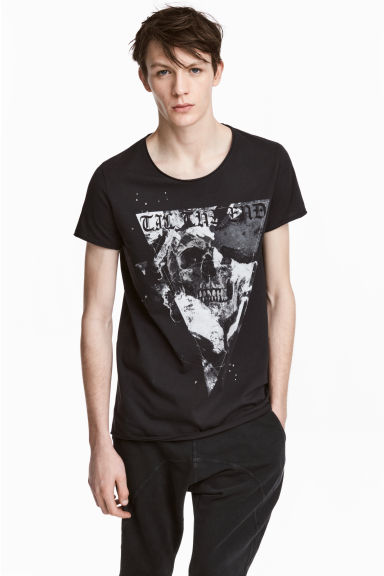 Printed T-shirt - Black - Men | H&M CN 1