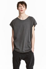 Slub jersey T-shirt - Black washed out -  | H&M 1