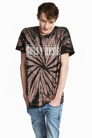 T-shirt con stampa batik - Nero/Guns'n'Roses - UOMO | H&M IT 1