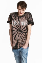 Batik-patterned T-shirt - Black/Guns N' Roses - Men | H&M CN 1