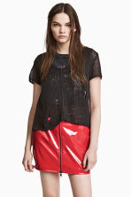 Patent skirt - Red - Ladies | H&M 1