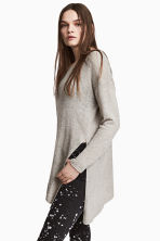 Loose-knit jumper - Grey - Ladies | H&M CN 1