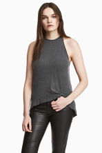 Top in jersey a costine - Grigio scuro - DONNA | H&M IT 1
