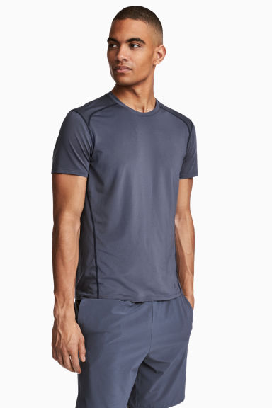 Sports top - Dark grey-blue - Men | H&M 1