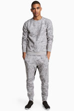 Jersey sports joggers - Grey/Patterned - Men | H&M 1