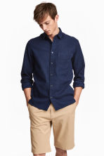Camisa de algodón Regular fit - Azul denim oscuro -  | H&M ES 1