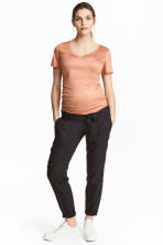 MAMA Linen-blend trousers - Dark grey -  | H&M 1