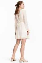 Dress with lace trim - Natural white - Ladies | H&M 1