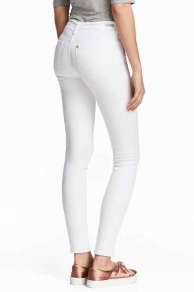 Shaping Skinny Ankle Jeans - White denim - Ladies | H&M CN 1