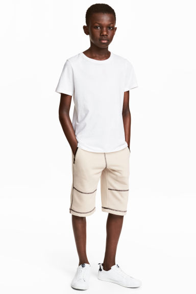 Sweatshirt shorts - Light beige - Kids | H&M CN 1