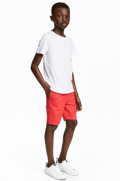 Twill shorts - Coral red -  | H&M 1