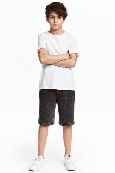 Sweatshirt shorts - Black washed out -  | H&M 1