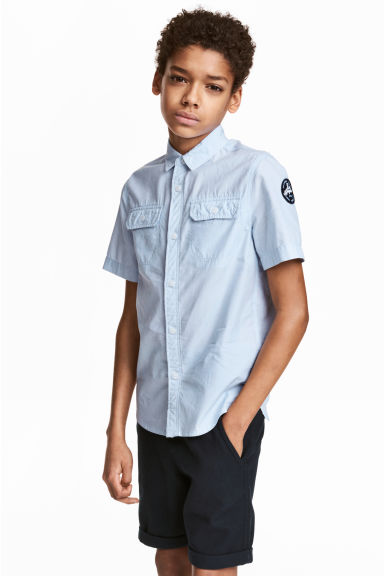 Short-sleeved shirt - Light blue -  | H&M 1