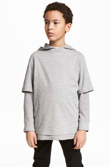 Hooded top - Grey marl - Kids | H&M