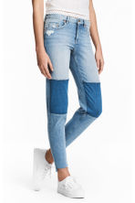 Straight Cropped Regular Jeans - Azul denim claro - MUJER | H&M ES 1