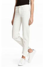 Straight Cropped Jeans - White - Ladies | H&M 1